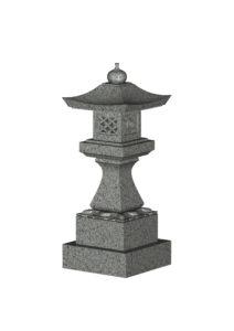 角墓前灯篭